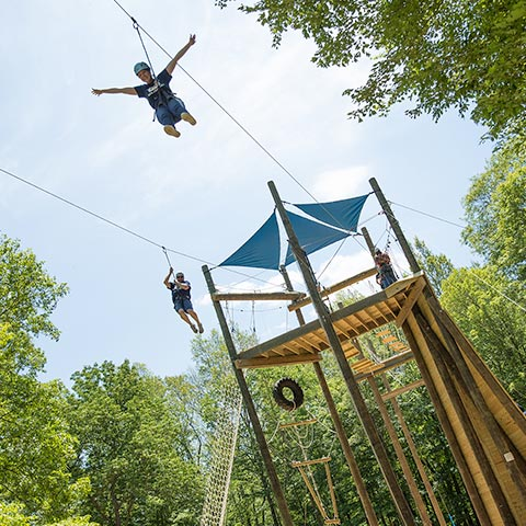 Henry's High Ropes Course and Audrey's Air Lines